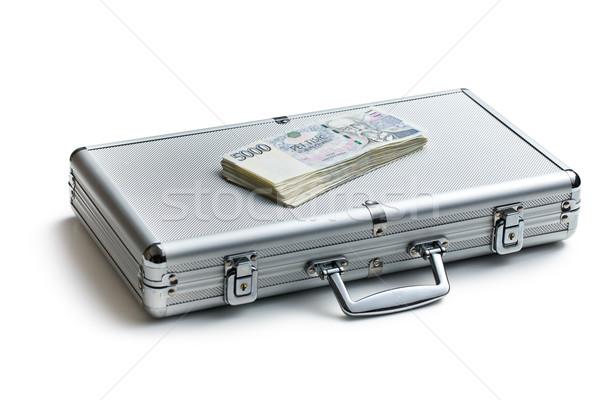 Cseh pénz alumínium tok fehér üzlet Stock fotó © jirkaejc