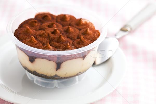 デザート ティラミス カップ 台所用テーブル 食品 ケーキ ストックフォト © jirkaejc