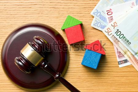 judge gavel and euro currency Stock photo © jirkaejc