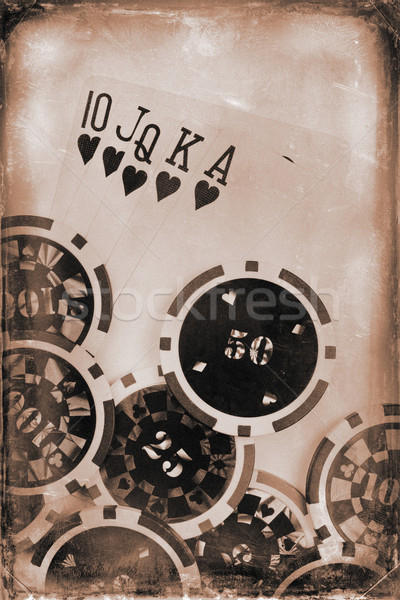 vintage poker concept Stock photo © jirkaejc