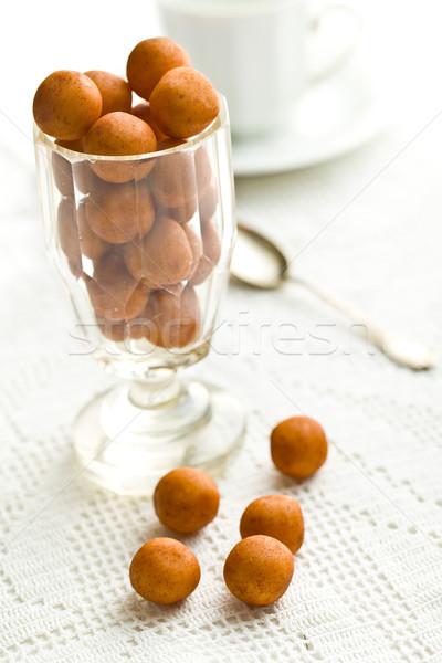 Marcipán golyók tea üveg csoport labda Stock fotó © jirkaejc