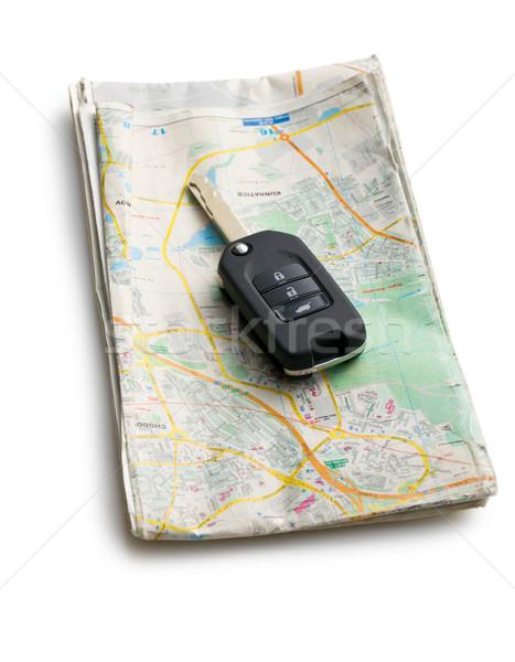 car key with map Stock photo © jirkaejc