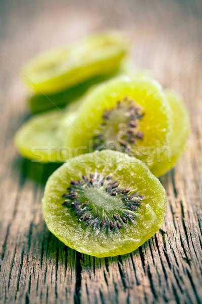 Geglaceerd kiwi vruchten houten tafel groep snoep Stockfoto © jirkaejc