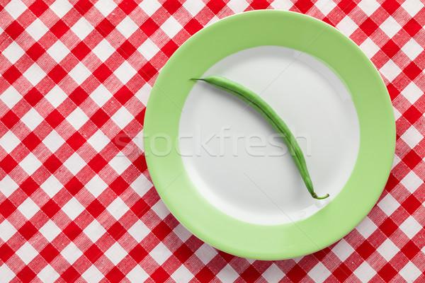 Vaina placa fondo cocina frescos Foto stock © jirkaejc