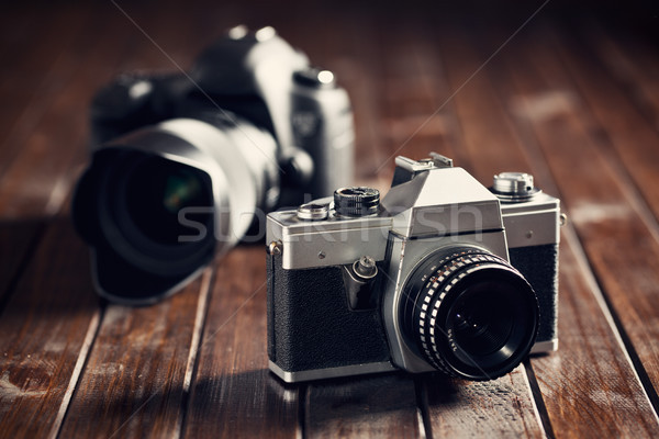 retro and dslr camera Stock photo © jirkaejc