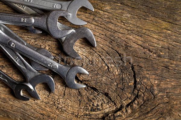 クロム 古い 木製のテーブル 建設 作業 業界 ストックフォト © jirkaejc