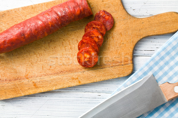 вкусный чоризо колбаса продовольствие мяса Сток-фото © jirkaejc