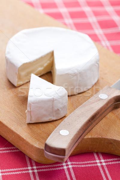 Brie foto shot voedsel kaas melk Stockfoto © jirkaejc