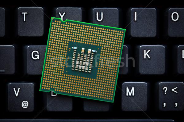 コンピュータ プロセッサ コンピュータのキーボード ビジネス 背景 業界 ストックフォト © jirkaejc