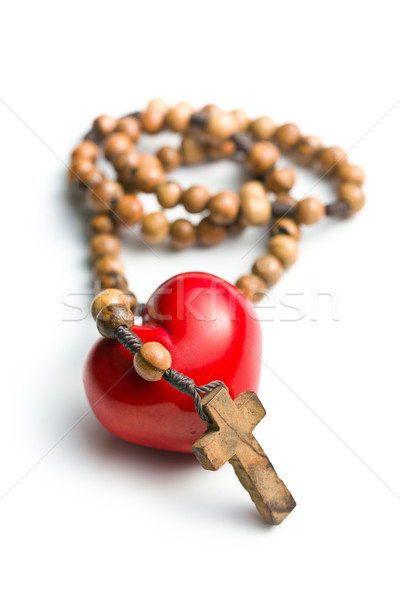 rosary with heart of stone Stock photo © jirkaejc