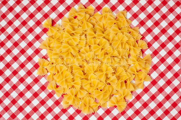 Pasta picknick tafelkleed diner leven eten Stockfoto © jirkaejc