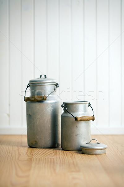 vintage milk cans Stock photo © jirkaejc