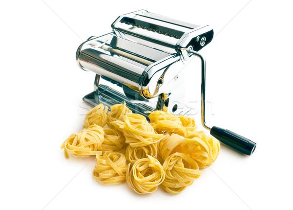 Tagliatelle makarna makine beyaz gıda pişirme Stok fotoğraf © jirkaejc