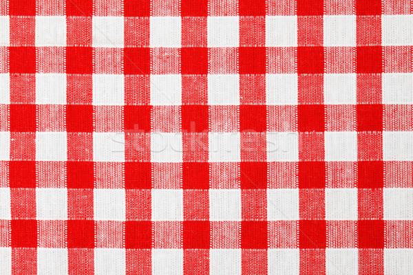 Toalha de mesa foto tiro tecido vermelho Foto stock © jirkaejc