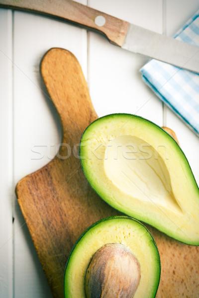 Stok fotoğraf: üst · görmek · gıda · arka · plan · yeşil · yeme