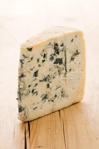 Rokfor mutfak masası arka plan yeşil mavi peynir Stok fotoğraf © jirkaejc