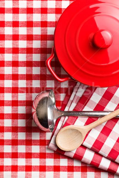 Sprzęt kuchenny obrus restauracji grupy kucharz wnętrza Zdjęcia stock © jirkaejc