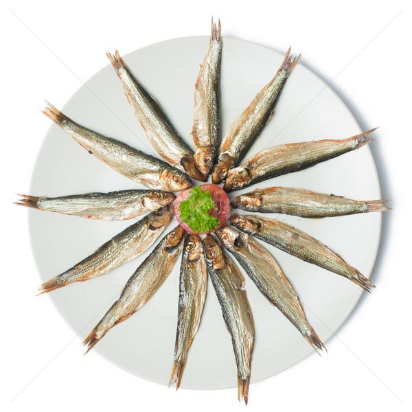 sprats on plate Stock photo © jirkaejc