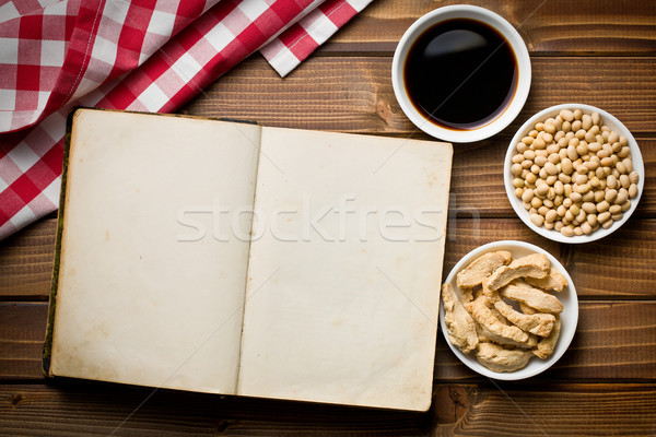 cookbook with various soy products Stock photo © jirkaejc