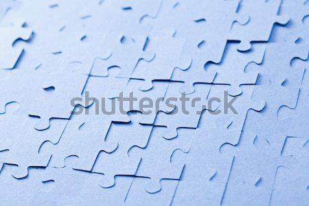 Kirakós játék fehér fény üzlet kék puzzle Stock fotó © jirkaejc