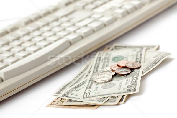 american currency and computer keyboard Stock photo © jirkaejc