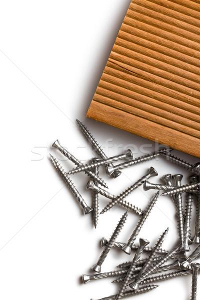 特別 ハードウッド 背景 産業 頭 鋼 ストックフォト © jirkaejc