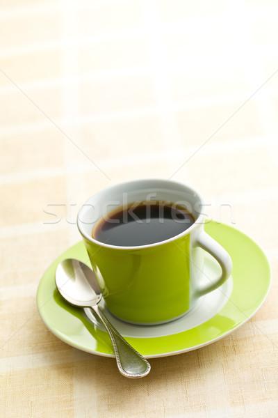 черный кофе зеленый Кубок пить черный жизни Сток-фото © jirkaejc