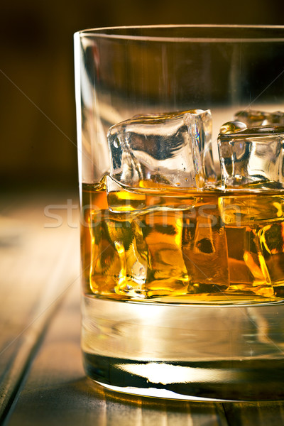 whiskey in glass with ice Stock photo © jirkaejc