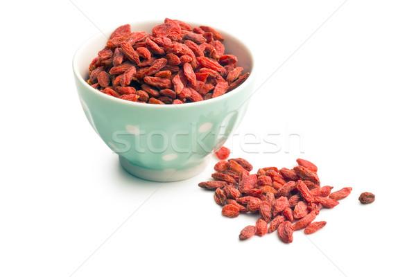 сушат Ягоды чаши фон красный азиатских Сток-фото © jirkaejc