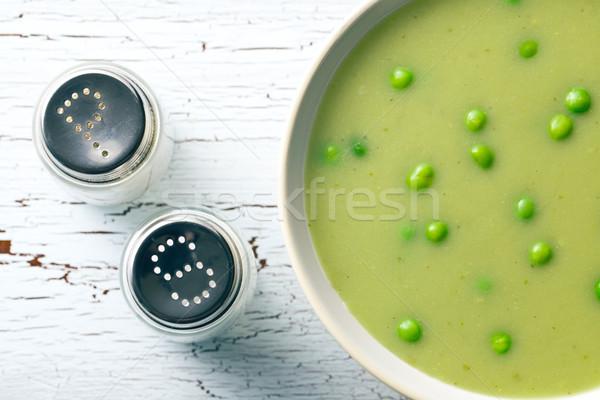 çorba tuz shaker üst görmek gıda Stok fotoğraf © jirkaejc