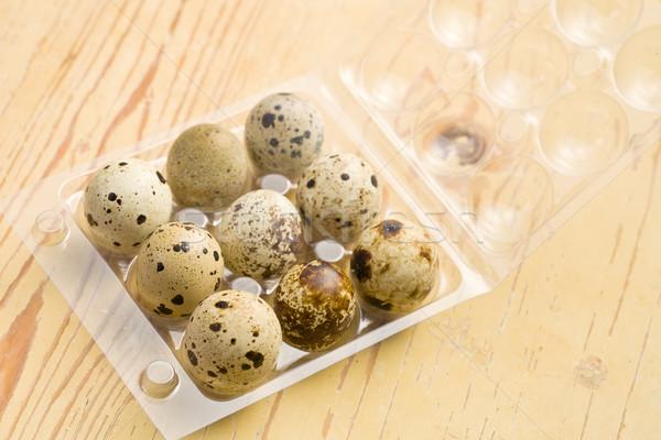 quail eggs on kitchen table Stock photo © jirkaejc