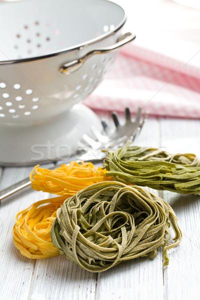 Italian pasta tagliatelle Stock photo © jirkaejc