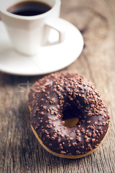 chocolate donuts and coffee Stock photo © jirkaejc