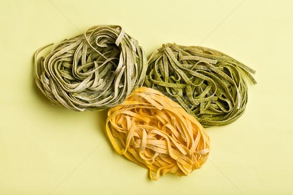 Italiaans pasta tagliatelle kleur voedsel achtergrond Stockfoto © jirkaejc
