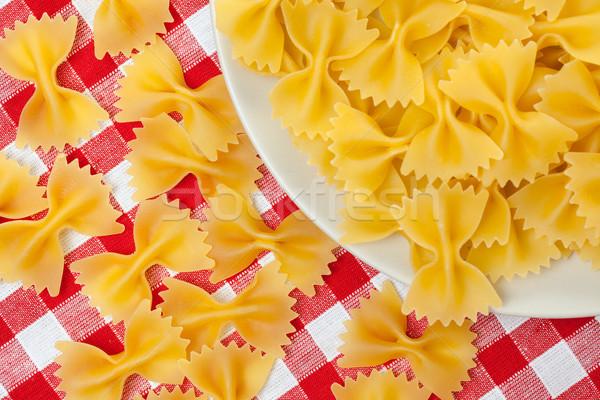 farfalle pasta on plate Stock photo © jirkaejc