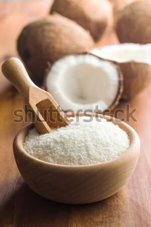 Branco sal tigela beleza cozinha Foto stock © jirkaejc