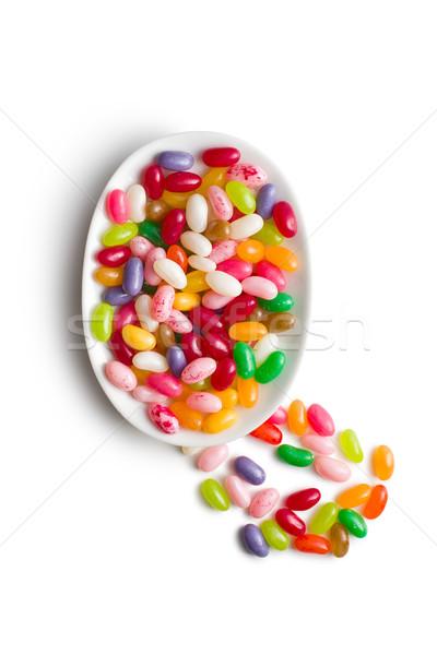 Сток-фото: чаши · керамической · фрукты · группа · цветами