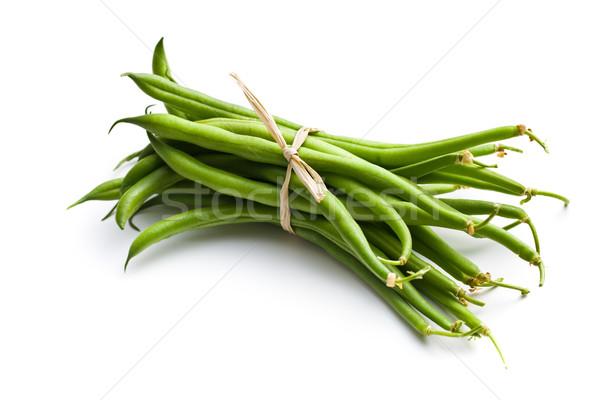 Friss zöldbab fehér étel csoport főzés Stock fotó © jirkaejc