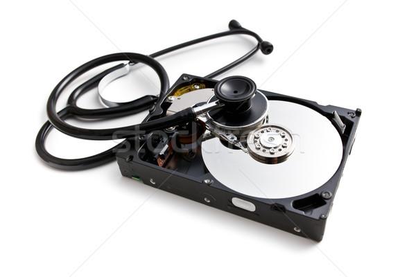 stethoscope with hard disk Stock photo © jirkaejc