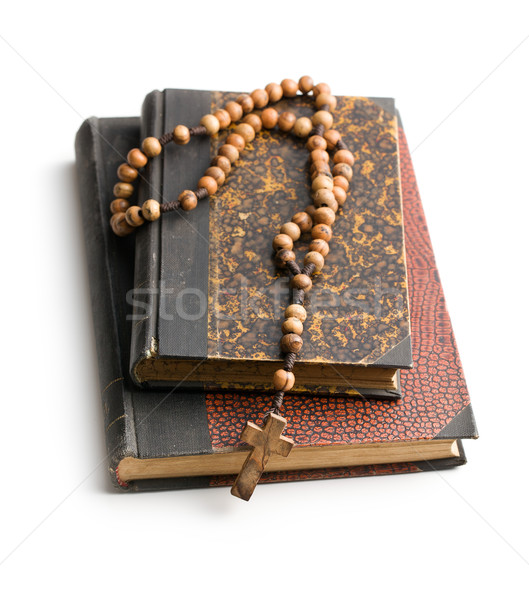 holy bible and rosary beads Stock photo © jirkaejc