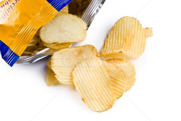 картофельные чипсы белый есть обед быстро диета Сток-фото © jirkaejc