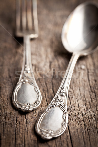 Stock photo: old cutlery