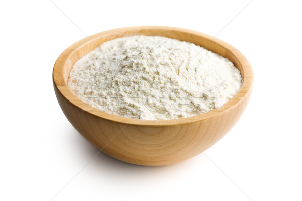 flour in wooden bowl Stock photo © jirkaejc