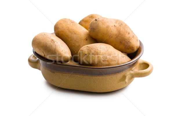 uncooked potatoes in ceramic pot Stock photo © jirkaejc