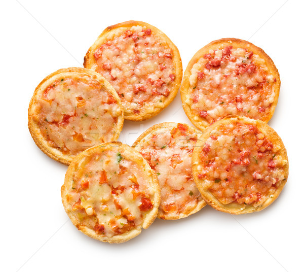 Stock photo: mini pizza