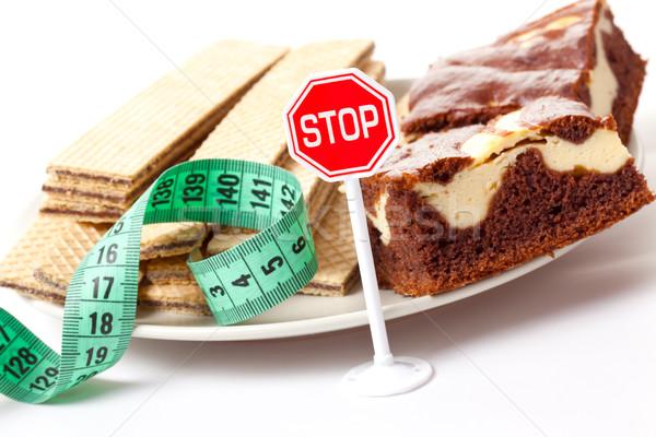 停止 甜的食物 飲食 食品 健身 健康 商業照片 © jirkaejc