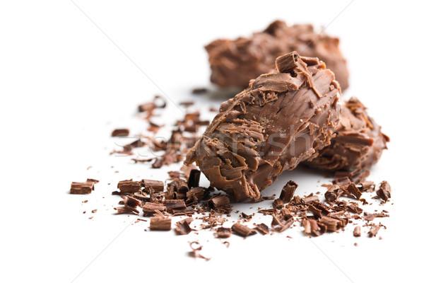milk chocolate truffles Stock photo © jirkaejc