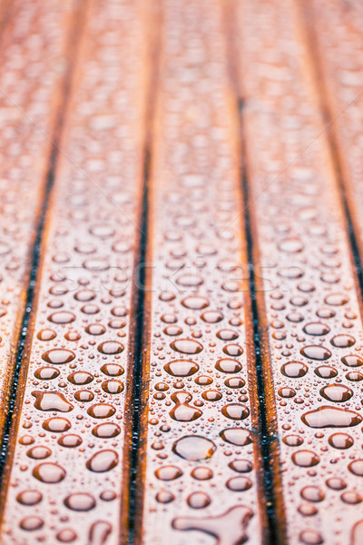 water drops on wooden garden table Stock photo © jirkaejc