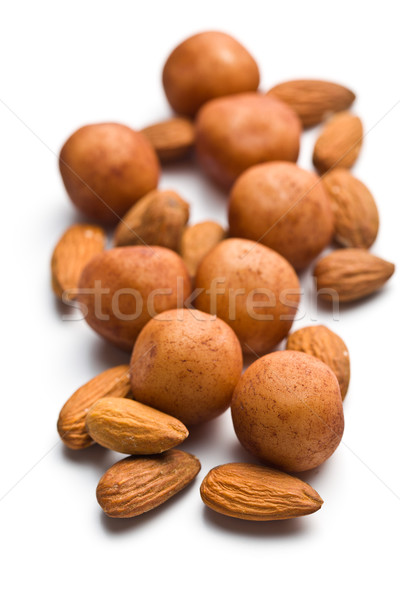 marzipan balls and almonds Stock photo © jirkaejc