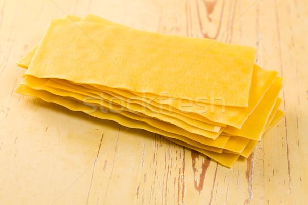 Lasagne konyhaasztal háttér lap vászon olasz Stock fotó © jirkaejc